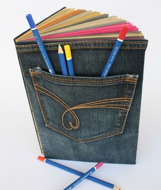 "I think I can do other craft ideas with this one. Great idea to re make old jeans into reusable ""stuff"""
