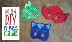 No Sew DIY PJ Masks Costumes