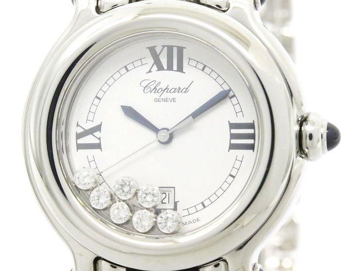 Polished CHOPARD Happy Sport Diamond Quartz Ladies Watch 27/8236-23 (BF107504)