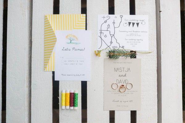 Picnic Inspired Wedding Invitations | Image by Nastja Kovacec