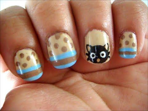 CUTE Chococat Nail Art - Diseño de Uñas de Chococat