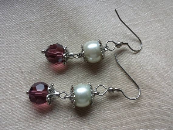 Check out this item in my Etsy shop https://www.etsy.com/listing/233289406/october-birthstone-rose-quartz-earrings