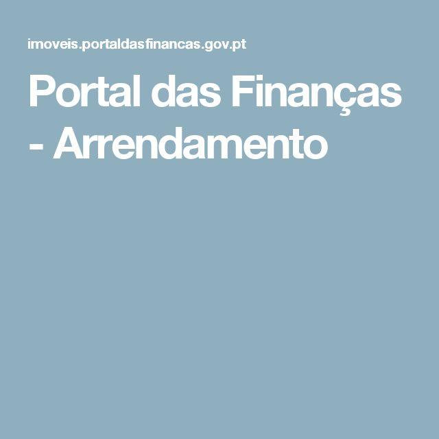 Portal das Finanças - Arrendamento