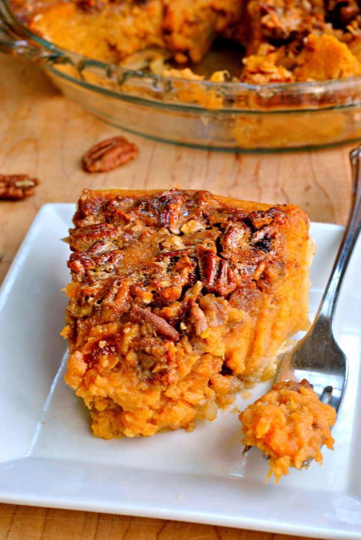 Two classics combined into one, Sweet Potato Pecan Pie! Not too sweet but with the perfect fall flavor, this is a great dessert for Thanksgiving!