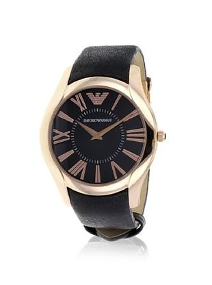 Emporio Armani Men's AR2043 Black/Rose Stainless Steel Watch