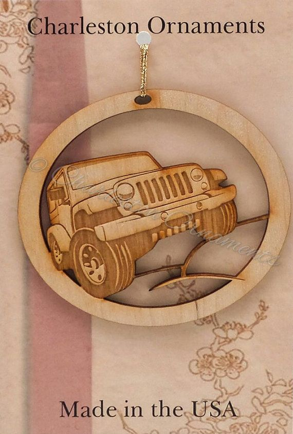 Engraved Jeep Ornament FREE PERSONALIZATION by PalmettoEngraving