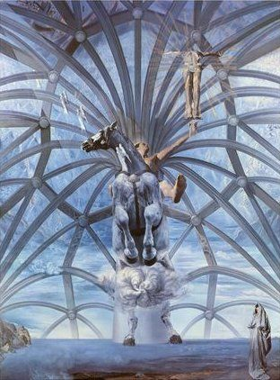 "Salvador Dali ""Santiago el Grande"". My favourite Dali, possibly because I had the pleasure of viewing it in its immensity at the Beaverbrook Art Gallery in Fredericton, NB. Breathtaking."
