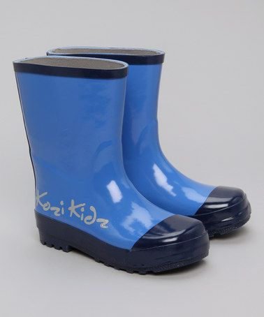 Navy Blue Wellies  - Toddler & Girls by Back to School: Kozi Kidz on #zulilyUK today! £8.99