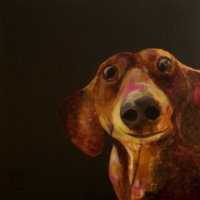 I love Ed van der Hoek's art. His dog art is funny, cute, and touching. I want!!