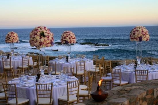 Lavender and gold wedding at Esperanza Resort