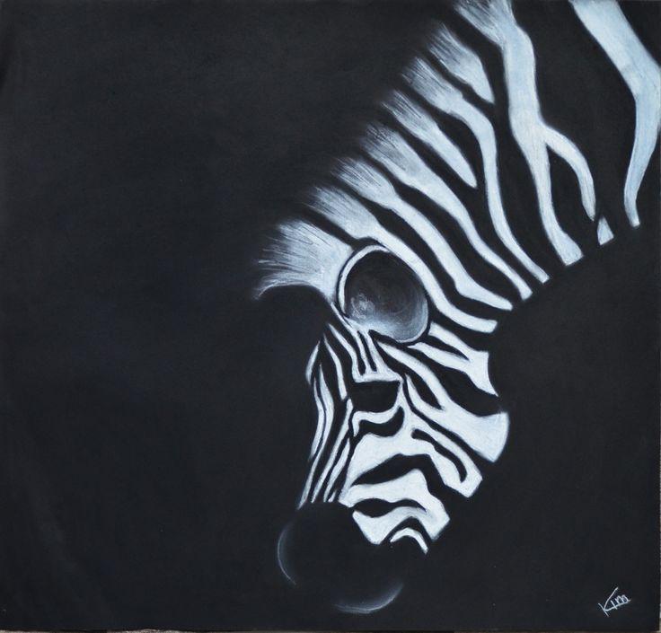 Zebra - Pastel krijt (KvA) www.facebook.com/KvAGraphicDesign http://graphicdesignkim.blogspot.nl/
