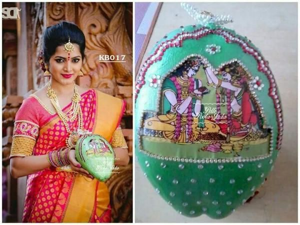 9 best indian fashion images on pinterest india fashion indian how to decorate coconut for indian wedding you can decorate coconuts for indian wedding at home by just gluing stones gods idols and pictures on it junglespirit Image collections