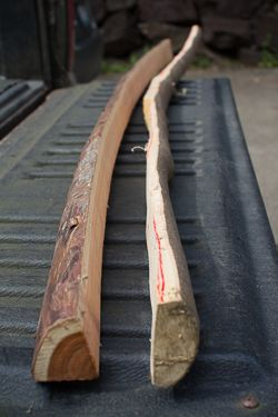 How to make a bow and arrow - Roughed out Bows. I am making my own right now. Get a draw knife makes things easier | See more about Make A Bow, Arrows and Bows.