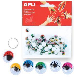 Ojos Móviles de colores, con Pestañass, Adhesivos. Pte.100 http://www.selfpaper.com/html/ojos-moviles-colores-pestanas-adhesivos-g.html