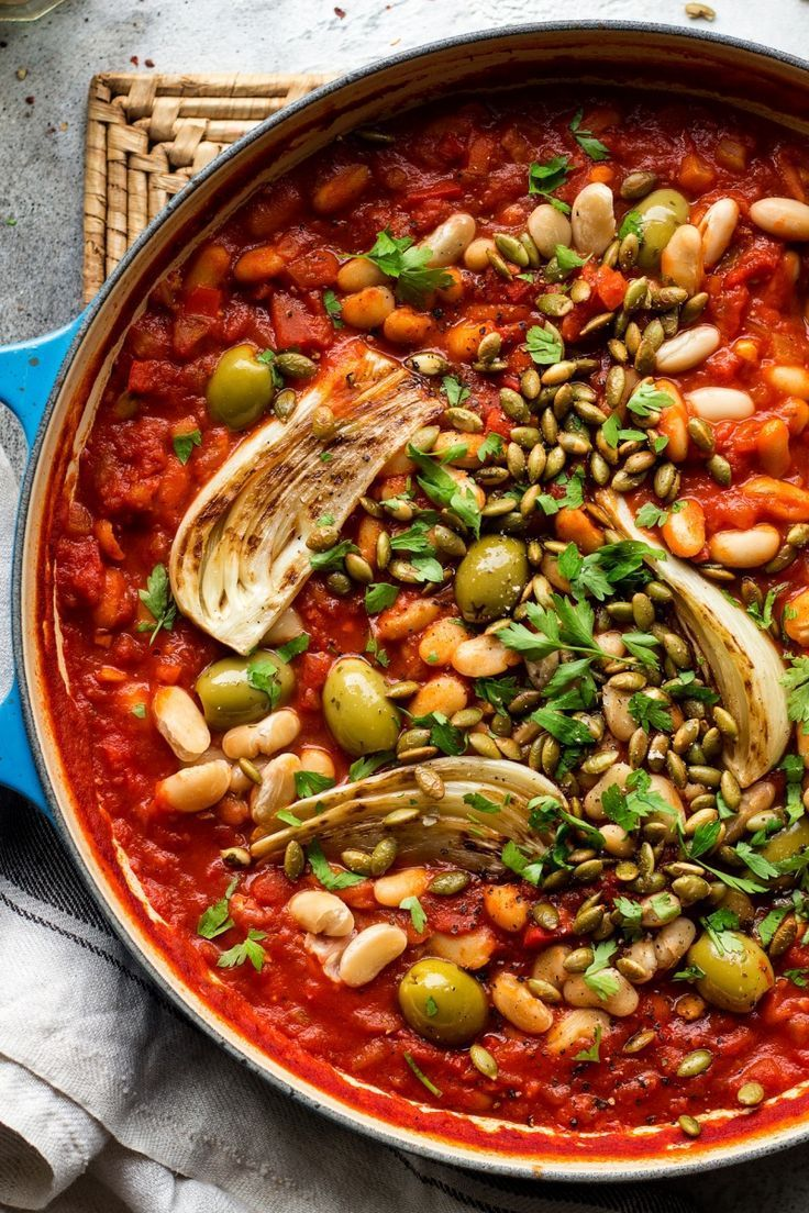 Vegan Bean Stew With Fennel