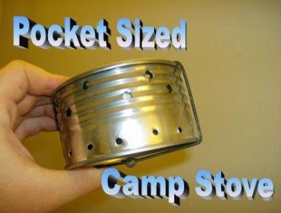 Como construir o melhor tamanho de bolso Fogão de acampamento