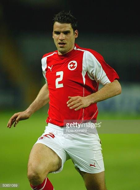 Bernt Haas of Switzerland in action during the Friendly International match between Switzerland and Slovenia at The Stade de Geneve on April 28 2004...