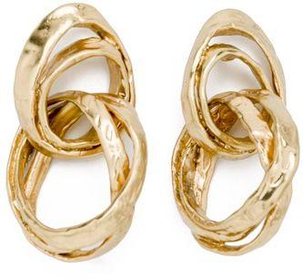Bimba y Lola Double Hook Earrings in antique gold. Debuted Sep 2016