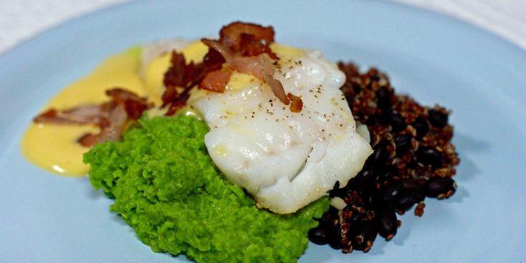 Skreifilet med ertepuré og bacon – Berit Nordstrand