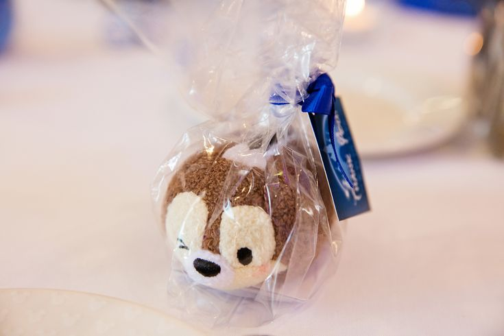 Mini tsum tsum favors for a Disneyland couple's wedding guests
