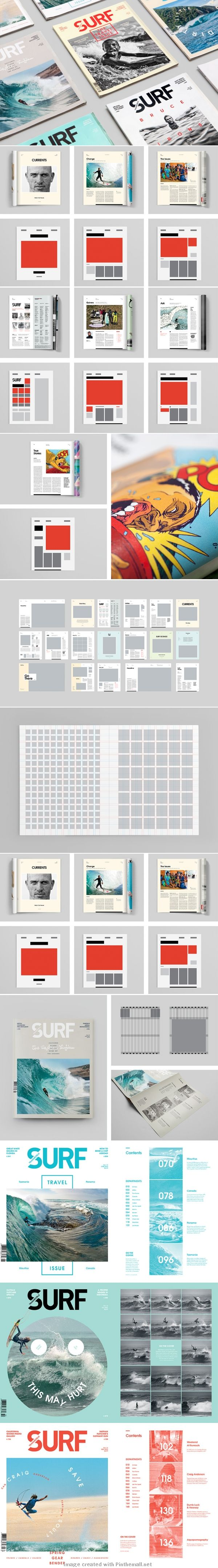 Surf magazine grid layout