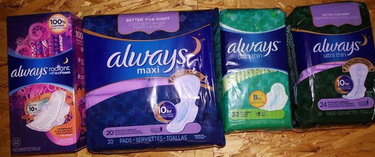 ALWAYS Maxi Pads FEMININE HYGIENE ( YOU CHOOSE ) slender ~ long ~ regular #always