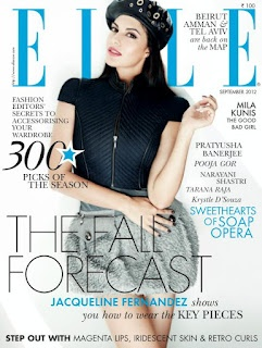 JacquelineFernandez On the Cover of Elle Magazine – September 2012 Issue. | Bollywood Cleavage