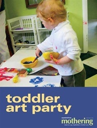 Toddler Art Party kids