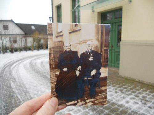 Dear Photograph,    I know you are my ancestors sitting there in front of the house I grew up in and where my family still lives today.  Even though we have lived in different times and a generation or more apart, I somehow feel closely connected to you both. -Gitte