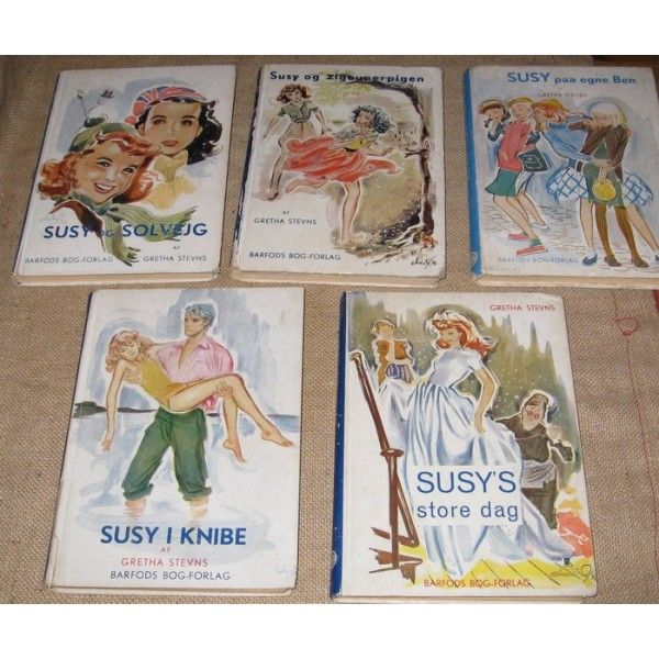 Vintage 'Susy' books by Gretha Stevns - Christel illustrated the first 10 of them. I borrowed the books from my older cusin - and for a time, I had a teen-ager crush on the young man on the front cover.
