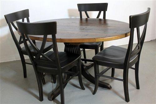 Large 84 Round Dining Table Ecustomfinishes Round Kitchen Table Set Kitchen Table Settings Farm Style Dining Table