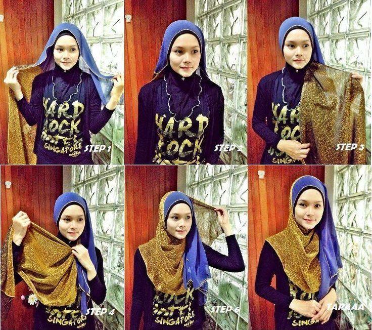 #2colours #shawl #hijab #tutorial