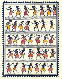 ... tribal painting paintings by artist from saura tribe southern orissa