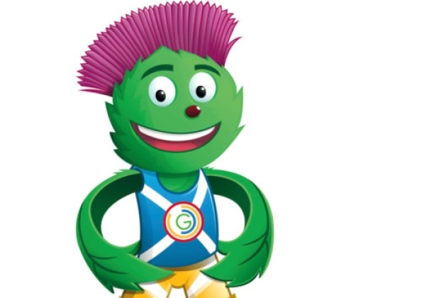 Clyde, the mascot for the 2014 Commonwealth Games in Glasgow.