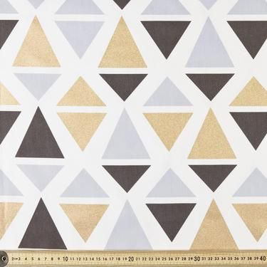 Buzoku Abstract Cotton Duck Black, Natural & Gold 112 cm
