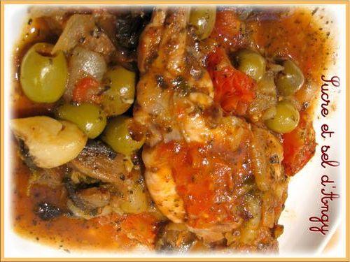 recettes en mijoteuse - lapin aux olives