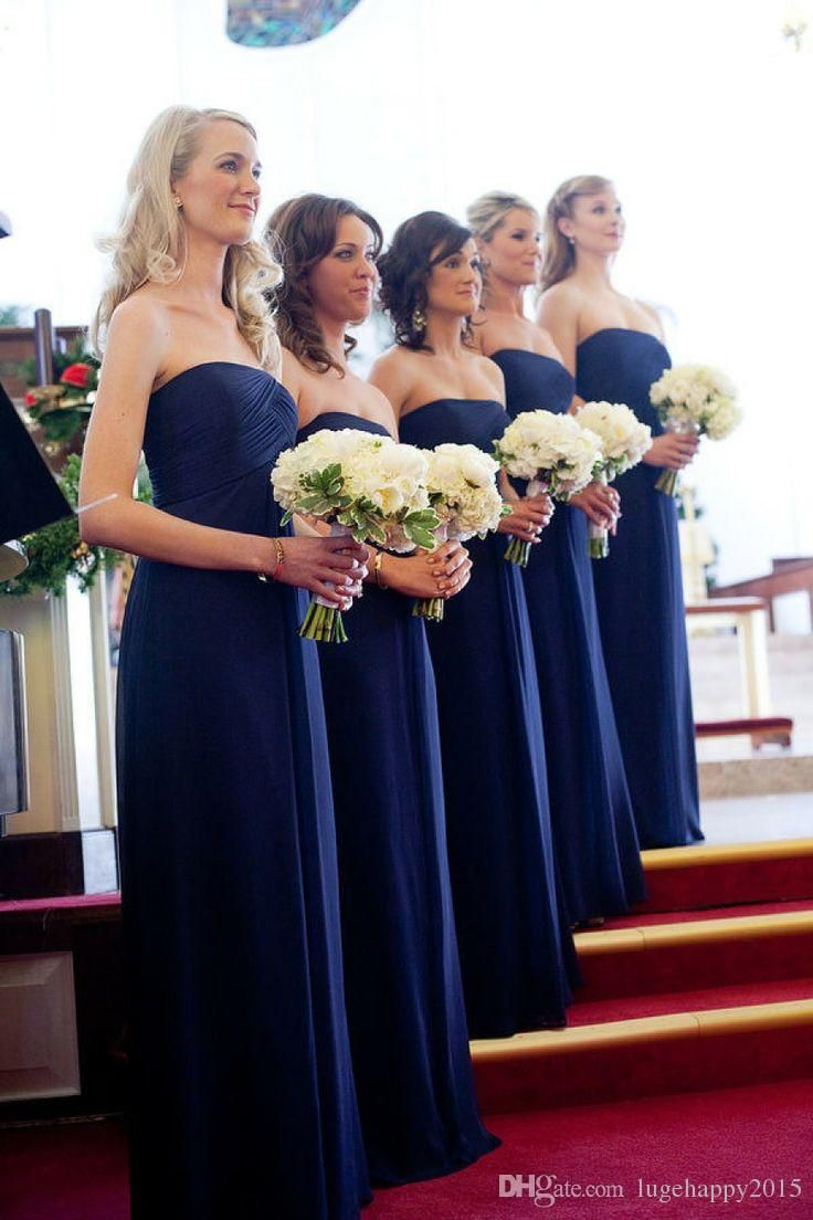18 best navy blue bridesmaid dresses images on pinterest love the long navy dresses pale yellow flowers ombrellifo Images