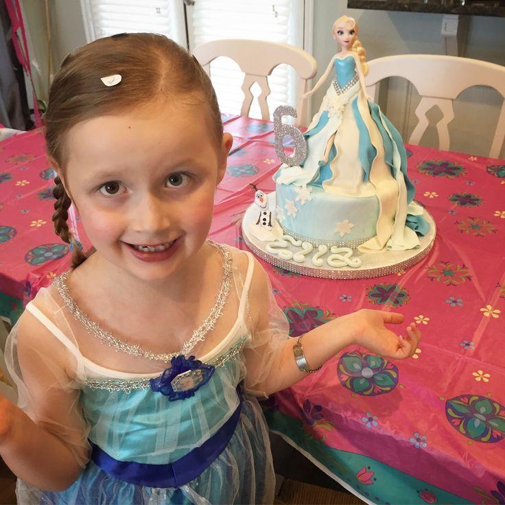 Ella lover her elsa cake thank you to sugar angel