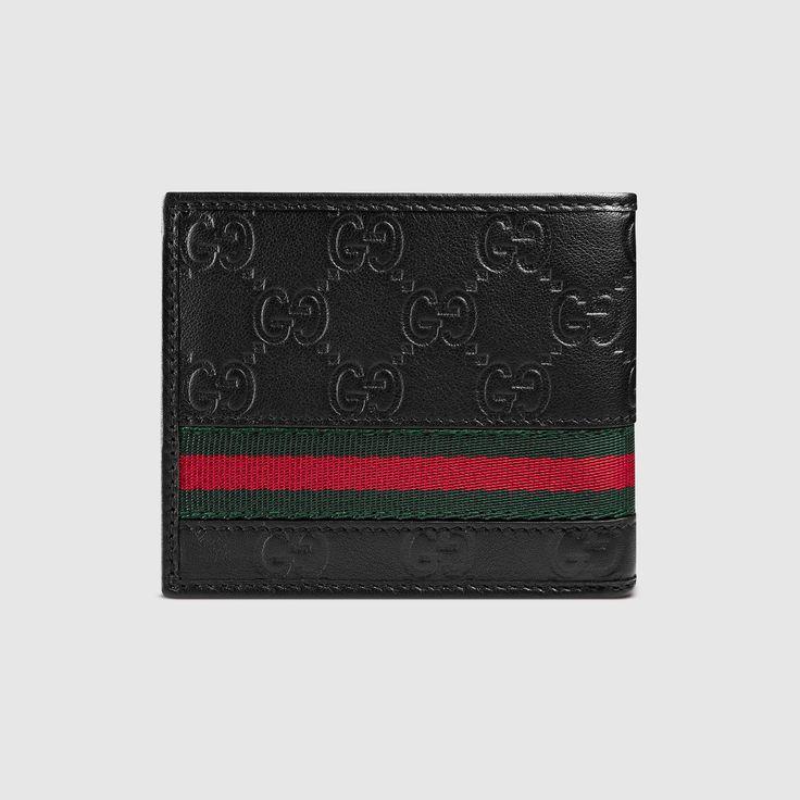 Gucci Men - Guccissima web bi-fold wallet - 138042A0VBR1060