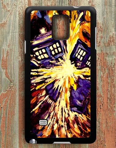 Starry Night Doctor Who Tardis Samsung Galaxy Note 4 Case