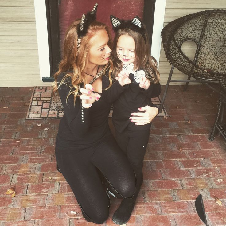 Mommy and me black cat costume