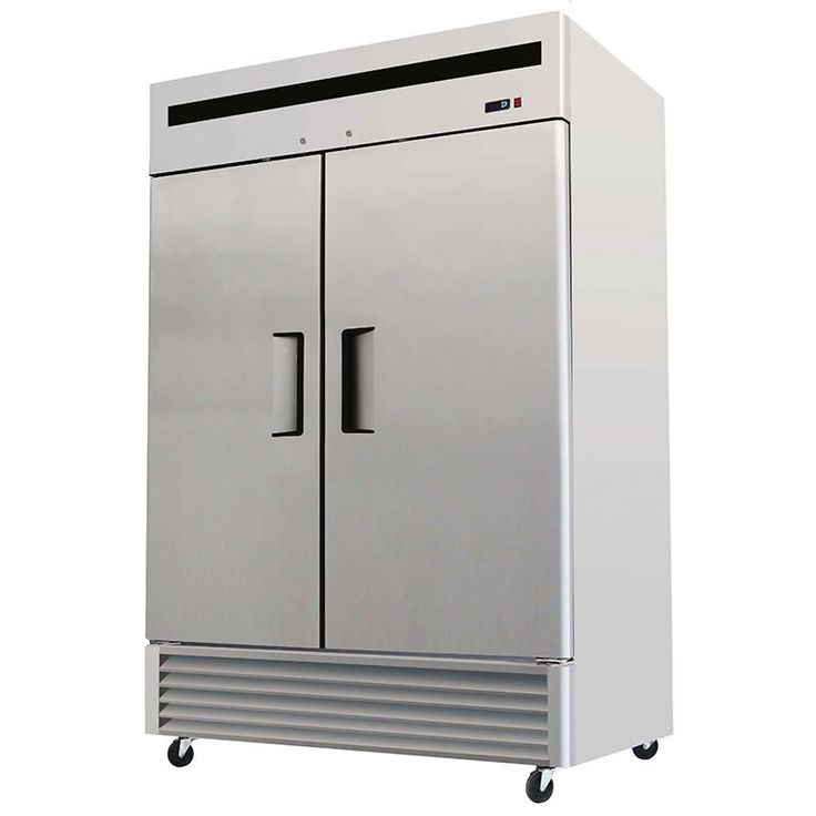 Refrigerator, Reach-In Solid Door Bottom Mount - 2 Section, Model Number CFBM2DR by ChefsFirst.
