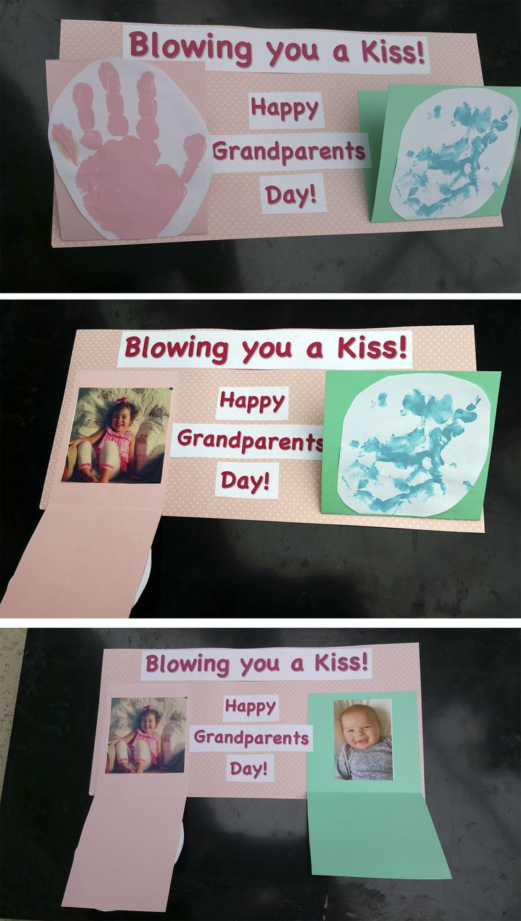 Blow a kiss to long distance grandparents! This is a great idea for holidays or just to send a thoughtful gift!