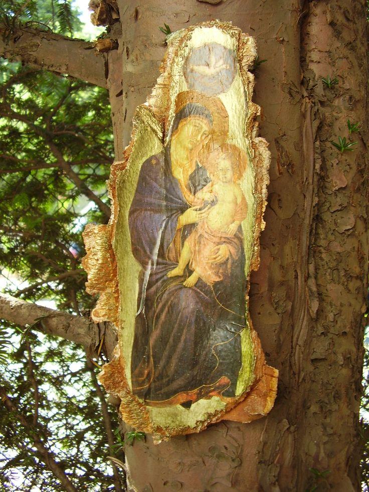 kapliczka na korze brzozy combi-anka@wp.pl