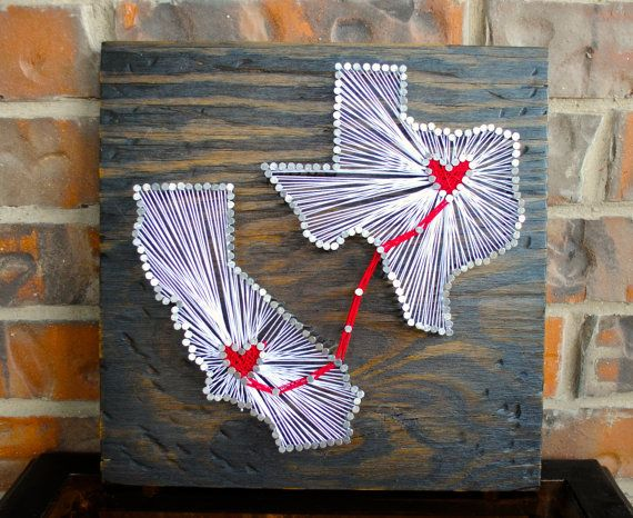 79 best nail string art images on pinterest nail string art two state string art with connecting hearts by cclarkedesigns prinsesfo Image collections