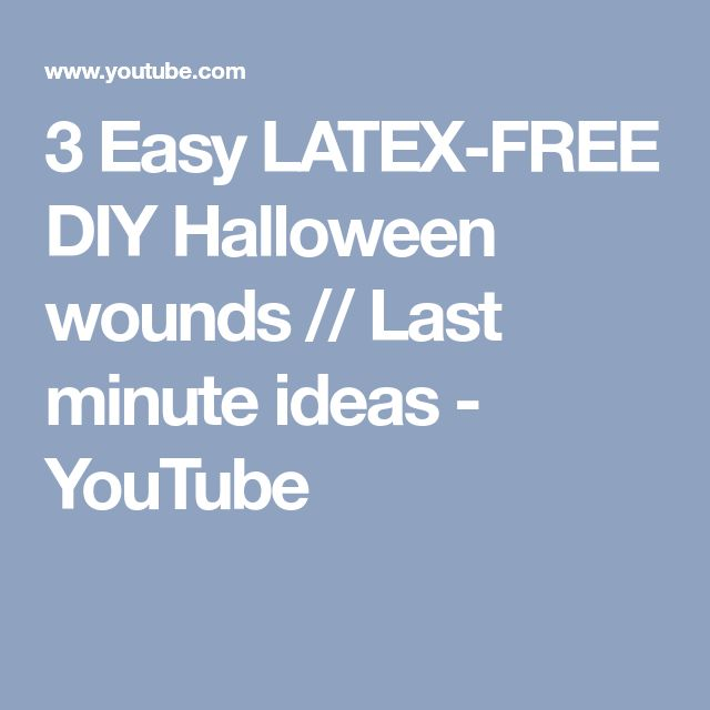 3 Easy LATEX-FREE DIY Halloween wounds // Last minute ideas - YouTube