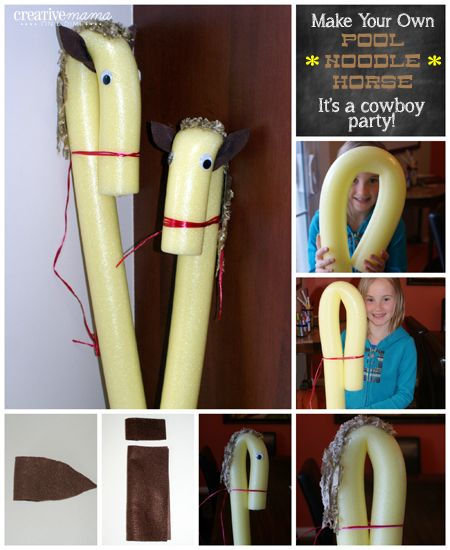 Make your own Pool Noodle Horses - I'm going to make my own stick horses for a music activity that I need with pool noodles!!!!!