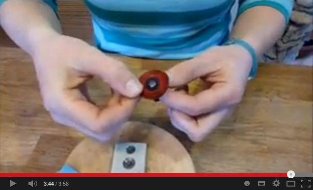 Kézműves Meska Pipacsos gyűrű készítése bőrből youtube video