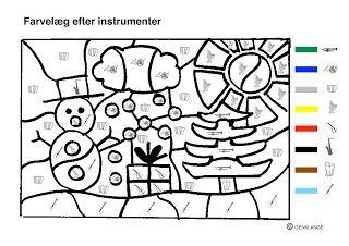 Klassisk musik for børn: Farvelæg efter instrumenter