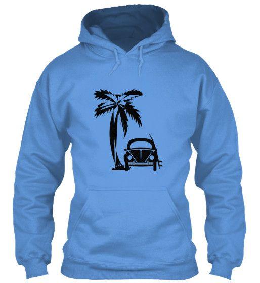 Men's Vintage VW Bug Surf Hoodie